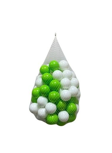 Jusso Jusso Havuz Topu 6cm 50Li - Yeşil Beyaz Renkli